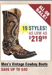 Shop All Men's Vintage Cowboy Boots on Sale