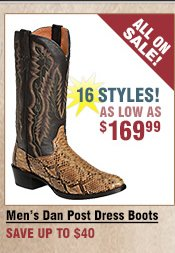 Shop All Men's Dan Post Dress Boots on Sale