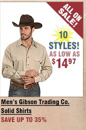 Shop All Men's Gibson Trading Company Solid Shirts on Sale