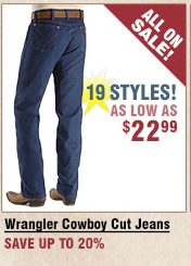 Shop All Men's Wrangler Cowboy Cut Jeans on Sale