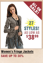 Shop All Women's Fringe Jackets on Sale