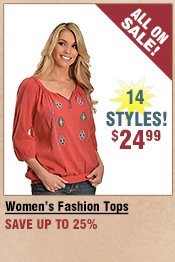 Shop All Women's Fashion Tops on Sale
