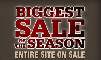Biggest Sale of the Season- Entire Site on sale