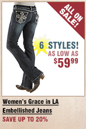 Shop All Grace in LA Embellished Jeans on Sale