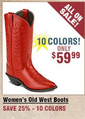 Shop All Women's Old West Colored Boots on Sale