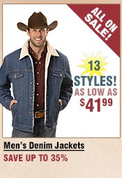 Shop All Men's Denim Jackets on Sale