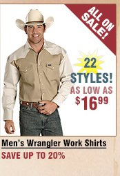 Shop All Men's Wrangler Work Shirts on Sale