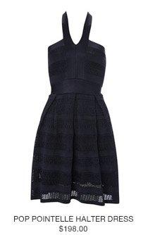 Pop Pointelle Halter Dress