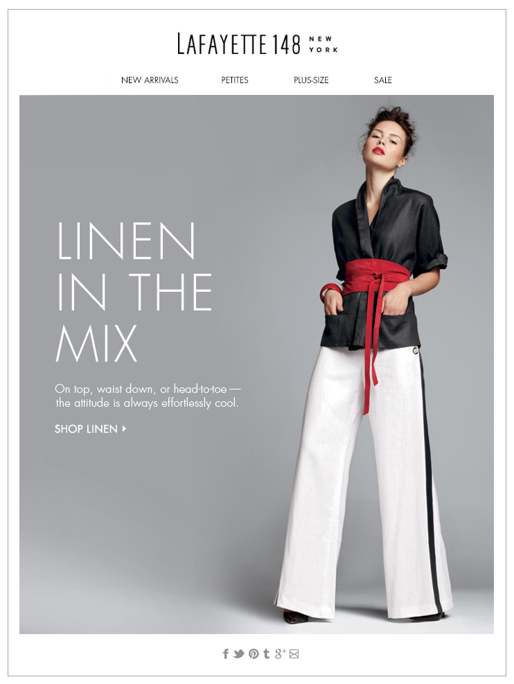 In the Mix: Lavish Linen