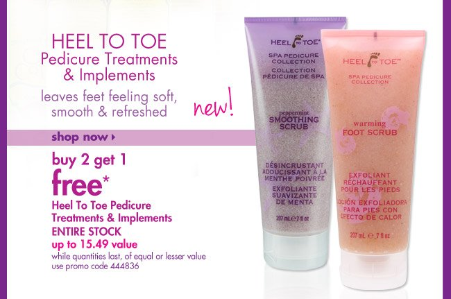 buy 2 get 1 free* Heel To Toe PedicureTreatments & Implements ENTIRE STOCK