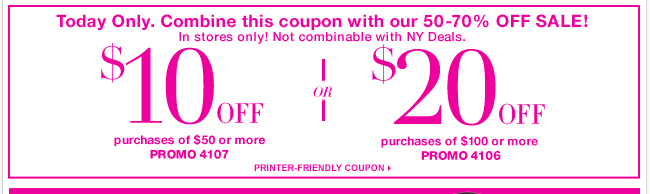 One Day Only! Use this new coupon & SAVE!