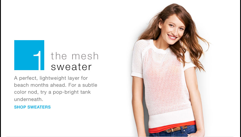1 | the mesh sweater | SHOP SWEATERS