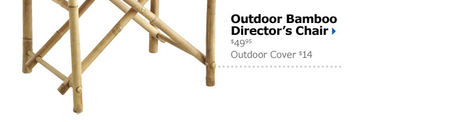 Outdoor Bamboo Director's Chair