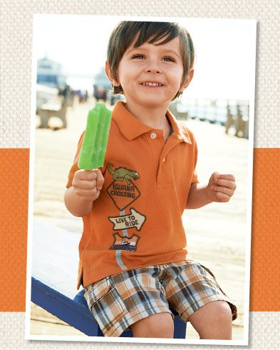Iguana Crossing. Cool iguanas, preppy plaid and sweet sneakers for your little guy!