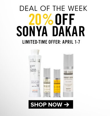 Deal of the Week 20% Off Sonya Dakar Limited Time Offer: April 1-7 Save Now>>