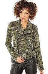 The Camo Twill Moto Jacket