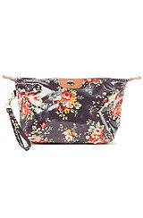 The Black Floral Cosmetic Bag