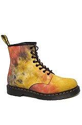The Castel 8-Eye Boot in Acid Tie Dye