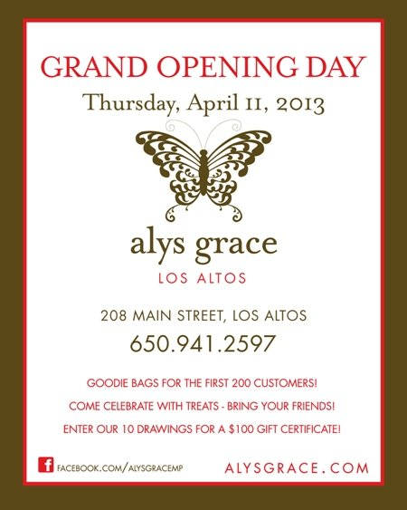Alys Grace Los Altos Opening