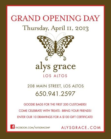 Alys Grace Los Altos Opening