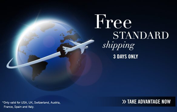 Free standard SHIPPING 3 DAYS ONLY