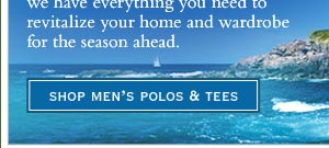 shop men's polos & tees
