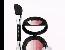 Ombré Baked Blush Gradient Cheek Color with Double-Ended Blush & Highlighter Applicator in Pink Blossom. PRICE: $32.50