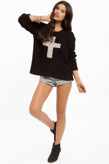 Cross Centered Sweater $43