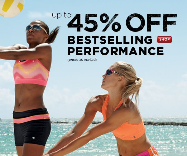 Up to 45% Off Performance Bestsellers