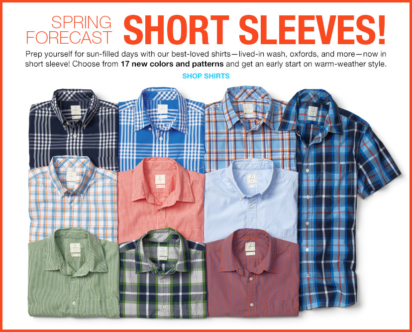 SPRING FORECAST | SHORT SLEEVES! | SHOP SHIRTS