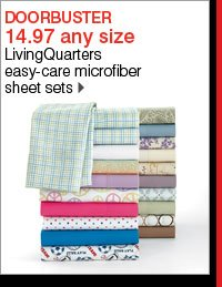 14.97 any size LivingQuarters easy-care microfiber sheet sets