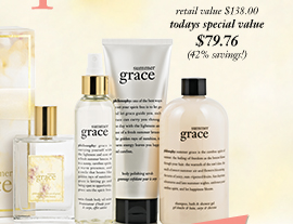 retail value $138 todays special value $79.76 (42% savings!)