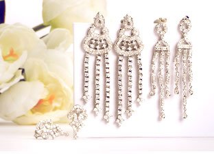 2013 Wedding Jewelry Trend: Chandelier Earrings
