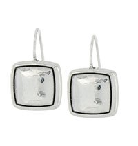 Tres Tile French Wire Earrings
