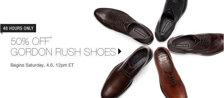 50% Off* Gordon Rush Shoes…Shop Now