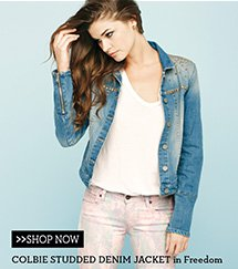 Colbie Studded Denim Jacket