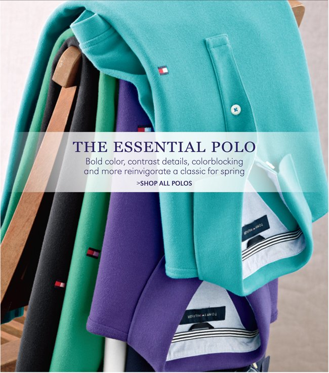 THE ESSENTIAL POLO | BOLD COLOR, CONTRAST DETAILS, COLORBLOCKING AND MORE REINVIGORATE A CLASSIC FOR SPRING | SHOP ALL POLOS