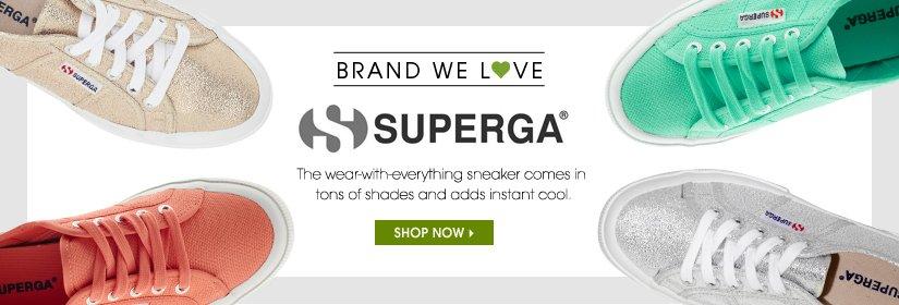 BRAND WE LOVE. SUPERGA. SHOP NOW