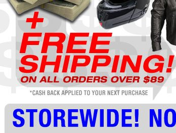 PLUS FREE Shipping On All Orders over $89