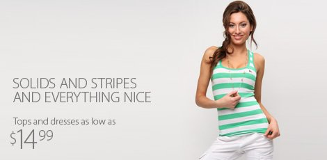 Stylish In Solids and Stripes