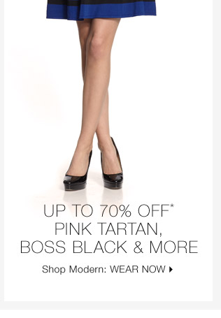 Up To 70% Off* Pink Tartan, Boss Black & More