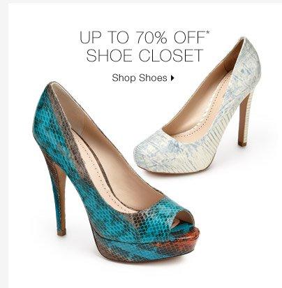 Up To 70% Off* Shoe Closet