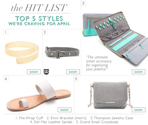 The Hit List | Top 5 Styles