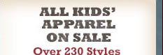 All Kids' Apparel on Sale