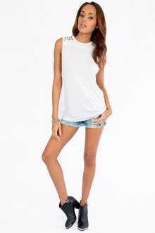 Studly Stretchy Cut-Off Tank $22