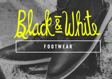 Shop Black & White: Footwear