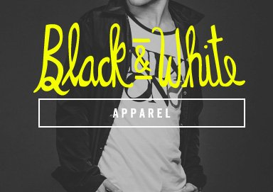 Shop Black & White: Apparel & Accessories