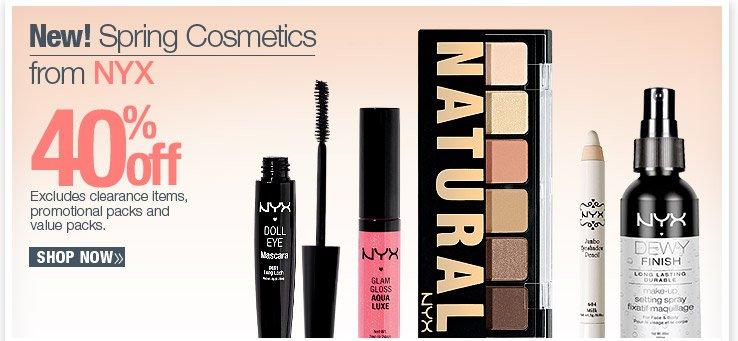 40% Off NYX Cosmetics