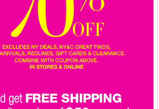 EVERYTHING 50%-70% Off + Take an EXTRA 60% off Redlines!