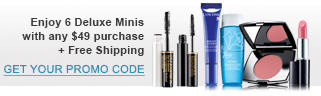 Enjoy 6 Deluxe Minis with any $49 purchase + Free Shipping | GET YOUR PROMO CODE